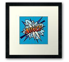Comic Book NINO! Framed Print