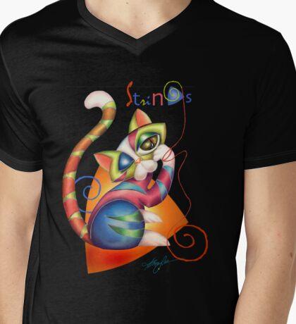STRINGS Mens V-Neck T-Shirt