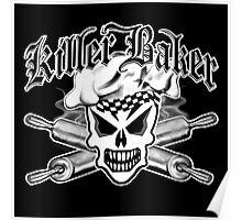 Baker Skull 2: Killer Baker and Crossed Rolling Pins Poster