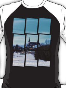 Village skyline in winter time | landscape photography T-Shirt