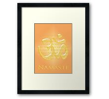 Om or Aum Symbol with Namaste quote Framed Print