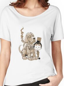A Victorian boy and his dog Women's Relaxed Fit T-Shirt