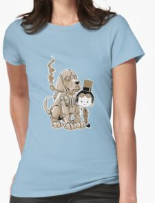 A Victorian boy and his dog Womens Fitted T-Shirt