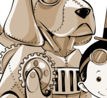 A Victorian boy and his dog Sticker