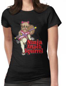 Ninja Attack Squirrel 2 (dark) Womens Fitted T-Shirt
