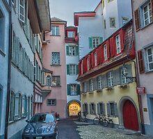 Pastel Alleyway: Lucerne by Adam Northam