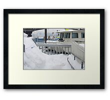 Docked in Ice Framed Print