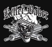Baker Skull 5: Killer Baker and Crossed Rolling Pins T-Shirt