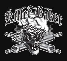 Baker Skull 5: Killer Baker and Crossed Rolling Pins by sdesiata