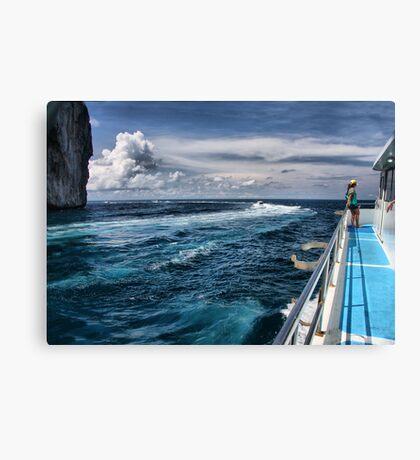 Leaving Monkey Island Canvas Print