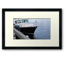 Black Vessel Framed Print