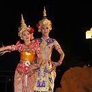 Thai dancers by Robyn Lakeman