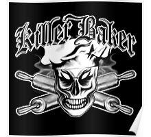 Baker Skull 4: Killer Baker and Crossed Rolling Pins Poster