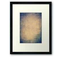 Blue and orange romantic grungy background texture with scratches Framed Print