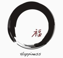 """Happiness"" symbol and Enso circle T-Shirt"