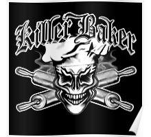 Baker Skull 1: Killer Baker and Crossed Rolling Pins Poster
