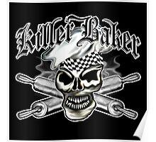 Baker Skull 8: Killer Baker and Crossed Rolling Pins Poster