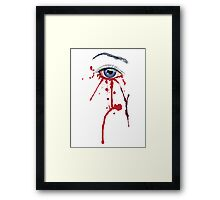 Eye with Blood Framed Print