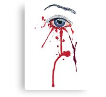 Eye with Blood Canvas Print