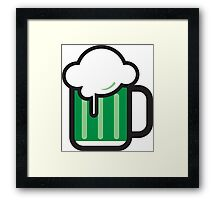 Green Beer Icon Framed Print