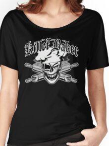 Baker Skull 7: Killer Baker and Crossed Rolling Pins Women's Relaxed Fit T-Shirt