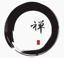 """Zen"" calligraphy & Enso circle of enlightenment by Heidi Hermes"