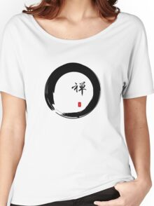 """""""Zen"""" calligraphy & Enso circle of enlightenment Women's Relaxed Fit T-Shirt"""