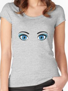 Anime eyes 6 Women's Fitted Scoop T-Shirt
