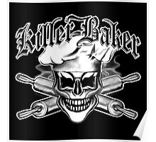 Baker Skull 6: Killer Baker and Crossed Rolling Pins Poster