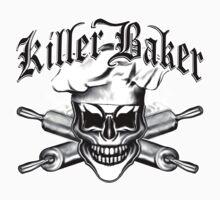 Baker Skull 6: Killer Baker and Crossed Rolling Pins Kids Clothes