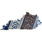 Vintage Kentucky License Plates by Maren Misner