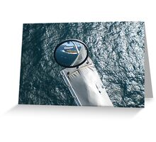 Helicopter Mirror Reflection Greeting Card