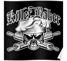 Baker Skull 11: Killer Baker and Crossed Rolling Pins Poster