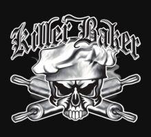 Baker Skull 11: Killer Baker and Crossed Rolling Pins by sdesiata
