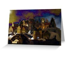 Twilight Christmas in the Alps - For David & Brad  Greeting Card