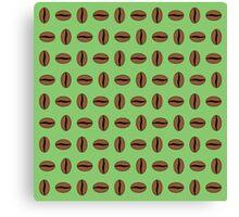 Vibrant Coffee Bean Pattern Canvas Print