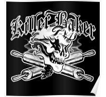 Baker Skull Ghost 1: Killer Baker and Crossed Rolling Pins Poster