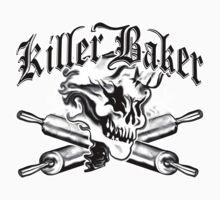 Baker Skull Ghost 1: Killer Baker and Crossed Rolling Pins Kids Clothes