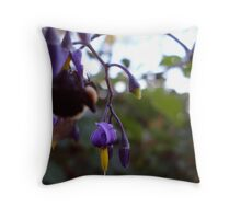 Blooming Rain Drops Throw Pillow