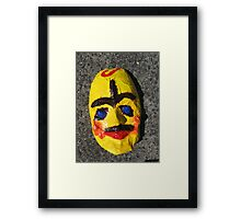 Grotesque Papier Mache Mask Project Framed Print