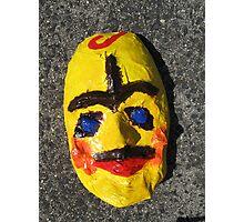 Grotesque Papier Mache Mask Project Photographic Print