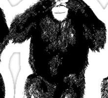Three Apes Sticker