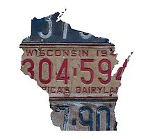 Vintage Wisconsin License Plates by Maren Misner
