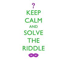 Riddle Me This! Photographic Print
