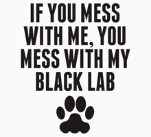 You Mess With My Black Lab Kids Clothes