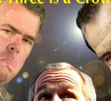 """The Three Bushes in """"Three is a Crowd"""" Sticker"""