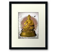 Buddha tea time Framed Print
