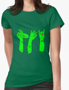 Zombie Sign Language Womens Fitted T-Shirt