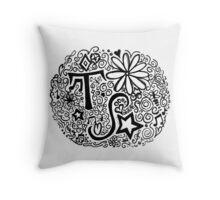 Taylor Swift Doodle Throw Pillow