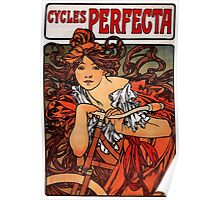'Cycles Perfecta' by Alphonse Mucha (Reproduction) Poster